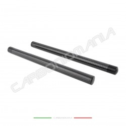 Pair of universal clip-on bars in glossy carbon fiber