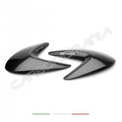 Glossy carbon tank side sliders Ducati Monster 797/821/1200/1200S (Strauss Line)