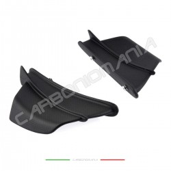Aerodynamic fins in matt carbon fiber for Ducati PANIGALE V4 / S Performance Quality fairings