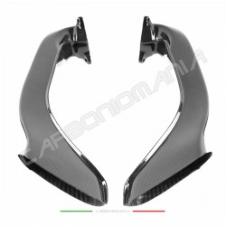 Oversized airbox ducts in carbon fiber for Ducati 848 1098 1198 Performance Quality
