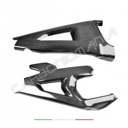 Swingarm cover with carbon chain fin for Kawasaki ZX 10R 2016 2019