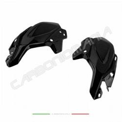 Fianchetti laterali faro cupolino in fibra di carbonio Kawasaki Z 900 2017 2018 Performance Quality