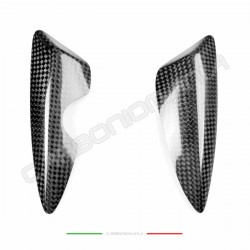 Carbon fiber side guard sliders for Triumph Daytona 675 2013 2018