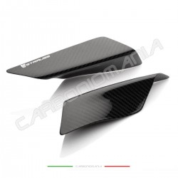 Glossy carbon tail sliders protectors Yamaha R6 2019 2020 (Strauss Line)