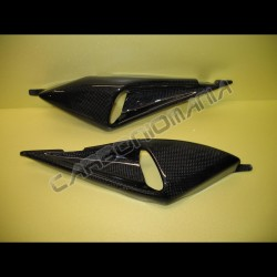 Carbon fiber side panels air ducts for Ducati Monster