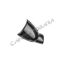 Carbon fiber exhaust cover for Ducati Scrambler 2015 2016 Performance Quality