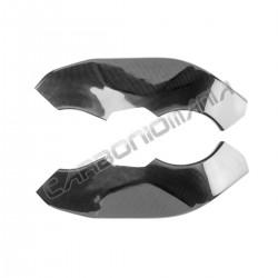 Carbon fiber frame cover for Kawasaki ZX-10 R 2008 2010